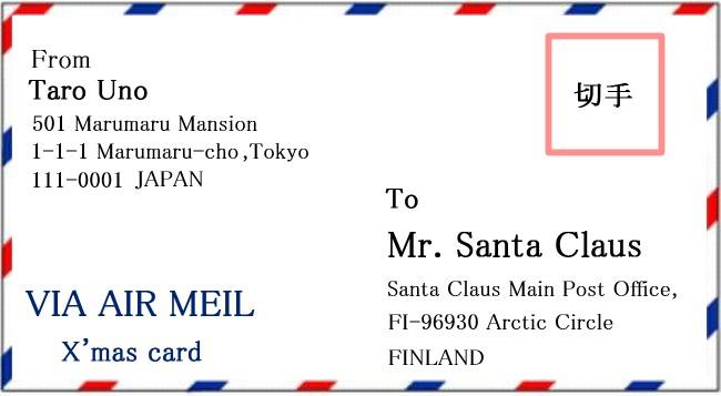 サンタクロースに送る手紙の住所と書き方は返事がくる方法を3ステップ