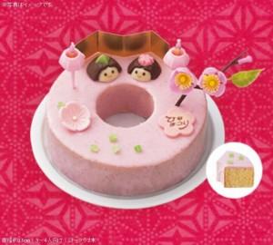 コンビニひな祭りケーキ2015ローソン