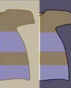 ドレス画像白金青黒どっち右脳左脳