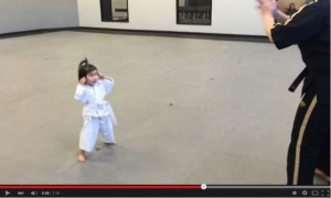 イギリステコンドー3歳少女動画