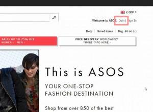 ASOS通販方法送料アカウント登録やり方