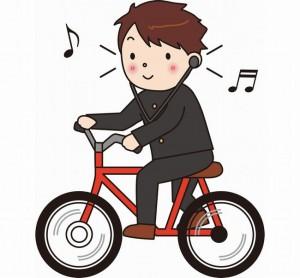 自転車片耳両耳イヤホン違反音楽聴くOK神奈川東京