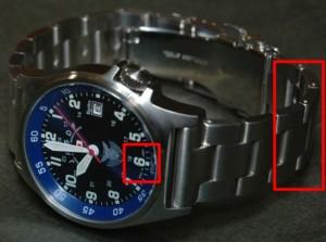 腕時計メタルバンド調整長さどちら6時12時はずし方コツやり方方法理由