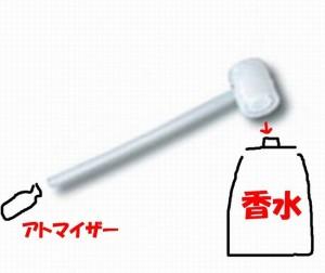 香水アトマイザー詰め替え方法道具やり方ジョウゴスポイト注射器ノズルシリマー