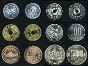 日本の硬貨素材材質円1005円666円