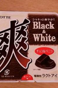 ロッテアイス爽Black&Whiteチョコバニラカロリー味感想期間いつまで販売店舗コンビニ