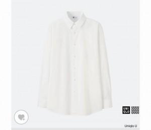 ユニクロUエクストラファインコットンブロードシャツ2017
