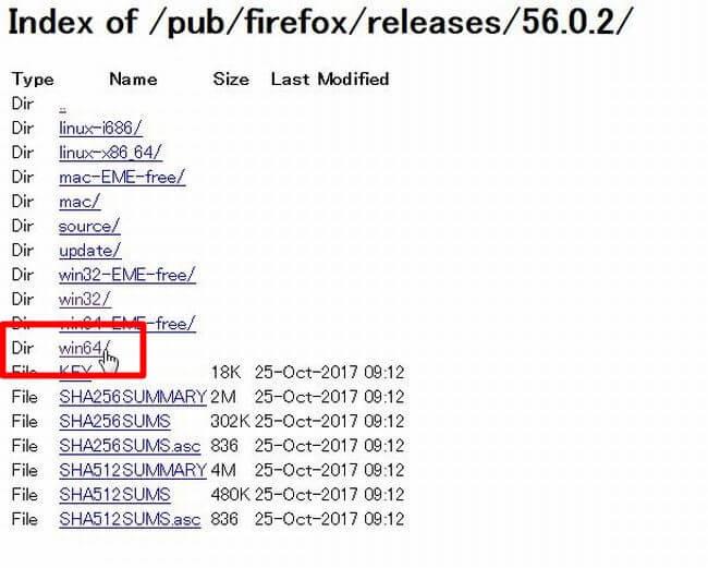 Firefoxのダウングレード方法4