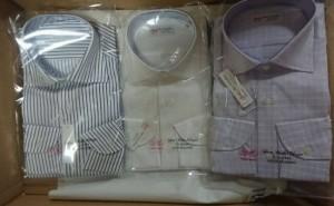 綿100%長袖ワイシャツ日本製3枚セット6